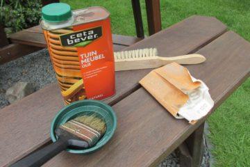 onderhoud houten tuinmeubelen