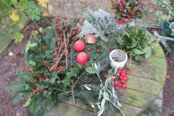 kerststuk benodigdheden groen