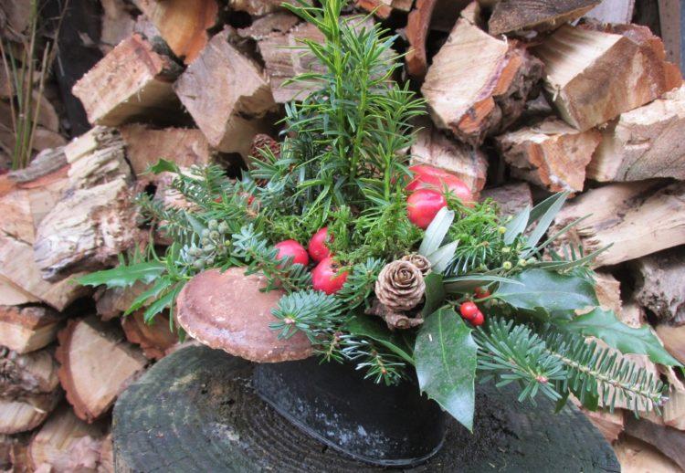 Groot kerststuk maken #3 – de afwerking