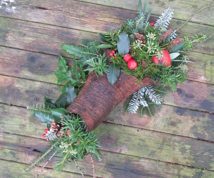 Een creatief kerststuk maken