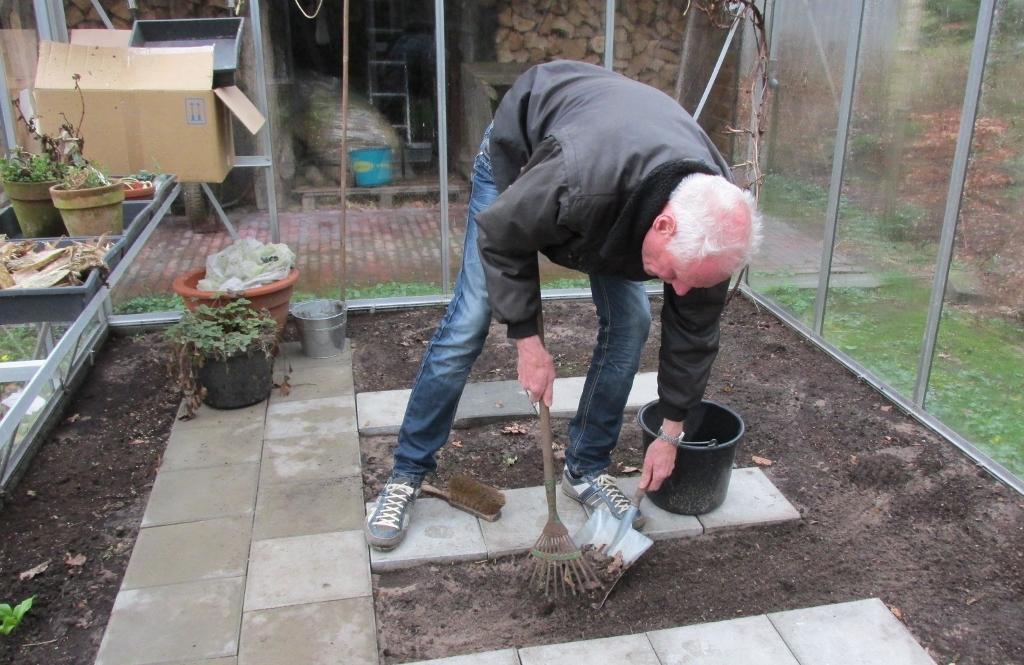 Albert Jan kas schoonmaken
