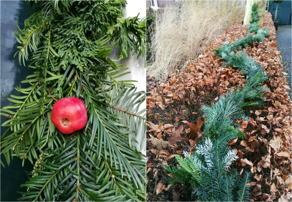Collage guirlande kerst