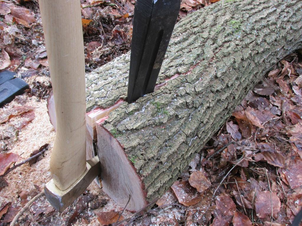 eikenhouten kloofpaal maken