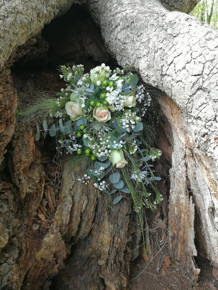 bruidsboeket boomstronk