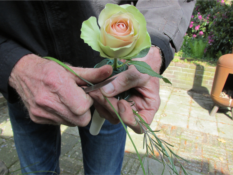 bruidsboeket roos